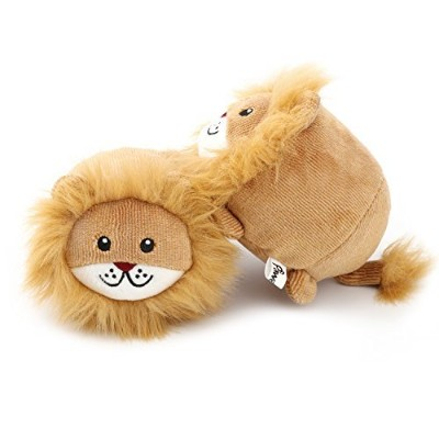 Pawaboo Bed Time Squeak Plush Toys, [2PACK] Stuffed Plush Animal Toys Soft Faux-fur Lion Style Play...
