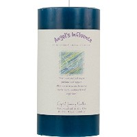"6 "" x 3 ""クリスタルJourneyハーブマジックレイキCharged Pillar Candle – ANGELS 's influence"