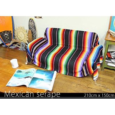 RUG&PIECE Mexican Serape made in mexcico ネイティブ メキシカン サラペ メキシコ製 210cm×150cm (rug-6191)