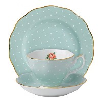 Royal Albert 3-Piece New Country Roses Teacup, Saucer and Plate Set, by Royal Albert