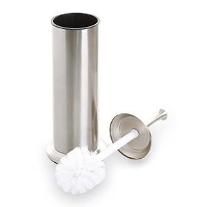 (Nickel) - BINO Toilet Brush & Holder with Removable Drip Cup, Brushed Nickel