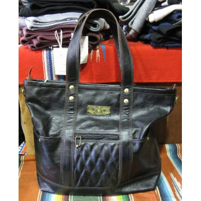WESTRIDE(ウエストライド)PADDED TOTE BAG LEATHER -BLK/BLK【送料無料】