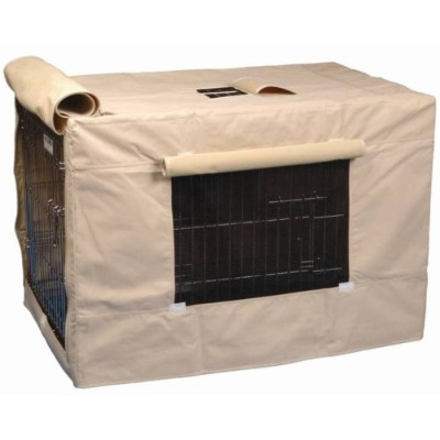 Precision Pet Indoor Outdoor Crate Cover for Size 2000 Crates Tan by Precision Pet