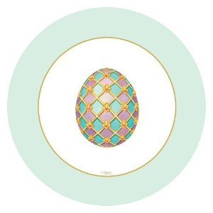 """Easter Paper PlatesデザートプレートサラダプレートEaster Egg Hunt Imperial卵8""""プレート Pack of 16 13040SP-2PK"""