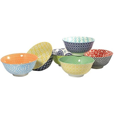 Certified International Large Cereal, Soup, or Pasta Bowls, Chelsea Collection, 15cm, Set of 6...