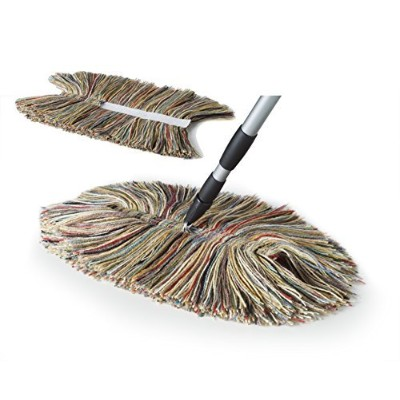 Sladust - 100% Wool Dry Mop & Replacement Head 3-pieces to Include (1) Big Wooly Dry Mop (1)...