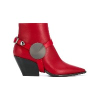 Casadei pointed ankle boots - レッド