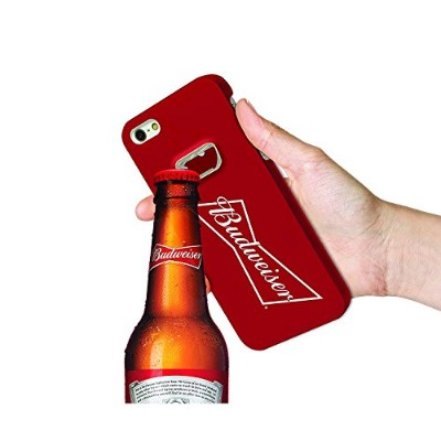 Budweiser Bottle Opener Cell Phone Case for Apple iPhone 6; Apple iPhone 6/s - Red With Logo [並行輸入品]