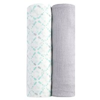 aden by aden + anais silky soft swaddle 2 pack, bitsy by aden + anais