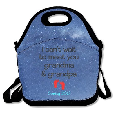 I Can Wait to Meet You Grandma & Grandpa Coming 2017Surprise Baby Birth Large & Thick Insulated...