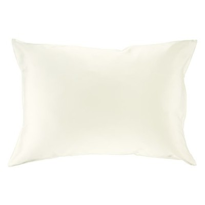 (Standard, Natural Undyed White) - 100% Silk Pillowcase for Hair Zippered Luxury 25 Momme Mulberry...