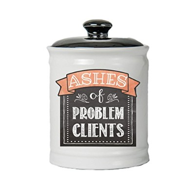 Tumbleweed Jar; Ashes Of Problem Clients Jar With Lid; Ceramic Container