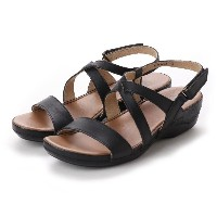 ドクター ショール Dr.Scholl Scholl Comfort Crossed Belt Sandals (Black) レディース