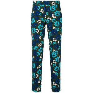 P.A.R.O.S.H. floral fitted trousers - ブルー