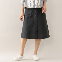 SALE【トゥー ビー シック(TO BE CHIC)】 【L】コットンデニムスカート 【L】コットンデニムスカート グレー