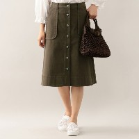 SALE【トゥー ビー シック(TO BE CHIC)】 【L】コットンデニムスカート 【L】コットンデニムスカート カーキ