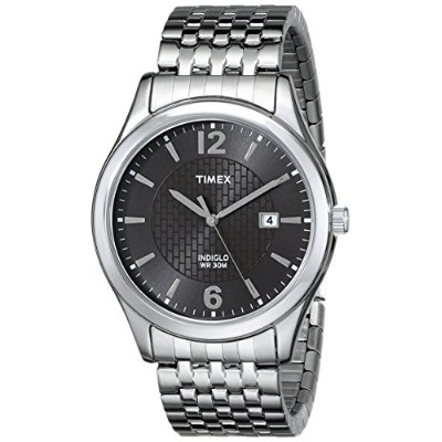 Timex Mens Stainless Steel Dress Watch