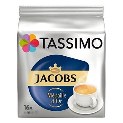 Tassimo Jacobs Krönung Médaille d'Or, Rainforest Alliance Vérifié, 16 T-Discs