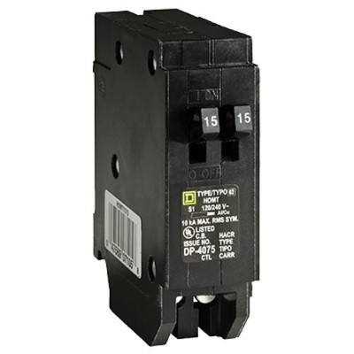 Square D by Schneider Electric homt1515cp Homeline 2–15Ampタンデム回路遮断器単極