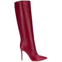 Gianvito Rossi pointed knee-length boots - レッド