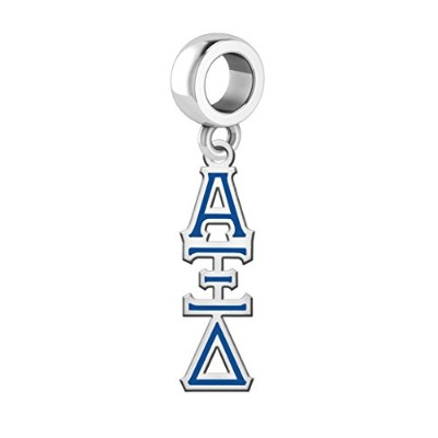 Alpha Xi Delta Lavaliereドロップチャーム。Solid Sterling Silver with Enamel