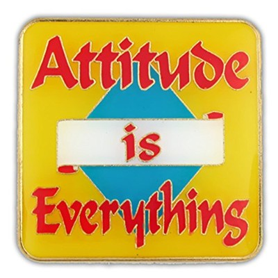 Pinmart 's Attitude Is Everything Motivationエナメルラペルピン 10