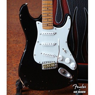 Axe Heaven Eric's Signature Vintage Blackie Fender™ Strat™ Miniature Guitar Replica - Officially...