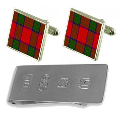 タータンClan Robertson Cufflinks & James Bondお金クリップ