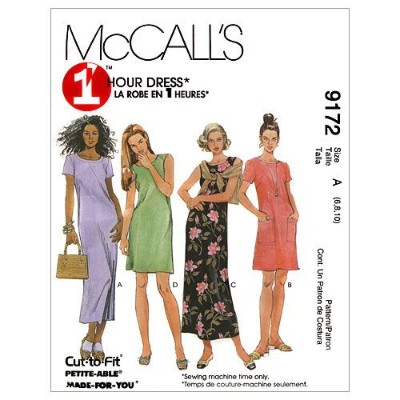 McCall's Patterns M9172 Misses' Dress In Two Lengths, Size A (6-8-10) by McCall's Patterns [並行輸入品]