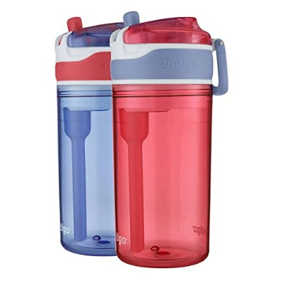 Contigo Kids 2-in-1 Snack Hero Tumbler Featuring 118mL Snack Holder Stacked on Top of 384mL Water...