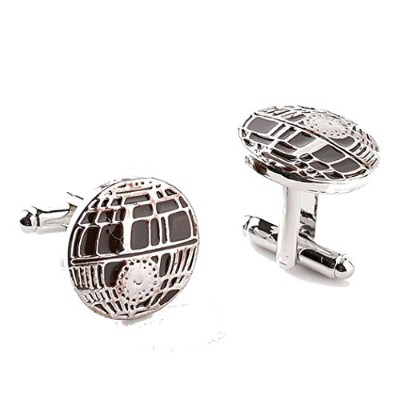 "STAR WARS "" Death Star "" Round Mens Cufflinks"