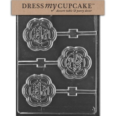 Dress My Cupcake Chocolate Candy Mold, Happy Mother's Day Lollipop by Dress My Cupcake