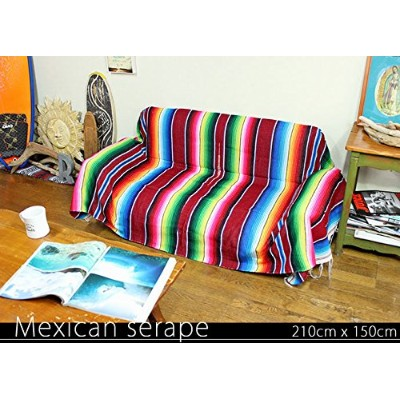 RUG&PIECE Mexican Serape made in mexcico ネイティブ メキシカン サラペ メキシコ製 210cm×150cm (rug-6170)