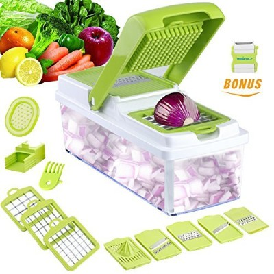 Vegetable Slicer Dicer WEINAS Food Chopper Cuber Cutter, Cheese Grater Multi Blades for Onion...