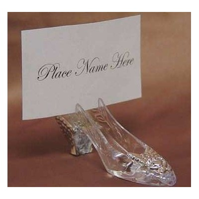 Silver Cinderella Slipper Placecard Holders - 36 Place Card Holders by Unknown