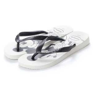 【SALE 20%OFF】ハワイアナス havaianas TOP DISNEY (kids sizes) (white/black)