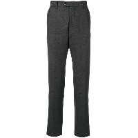 Eleventy creased tapered trousers - グレー