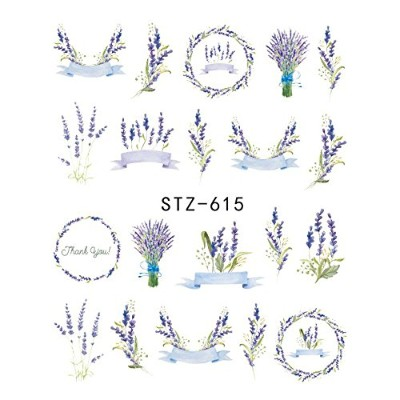 (STZ-615) 1pcs Nail Sticker Butterfly Flower Water Transfer Decal Sliders for Nail Art Decoration...