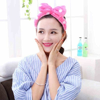 Korean Style Girls Flannel Cute Elastic Big Bow-knot Hair Band Headband (Hot Pink) by Sweet Family