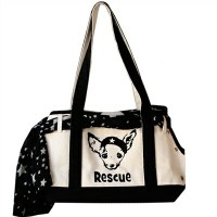 ★Pet Flys/ペットフライ★Canvas Boat Tote - RESCUE犬用キャリーバッグ