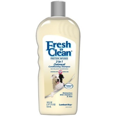 Fresh'n Clean Pet 2-in-1 Oatmeal and Baking Soda Formula Conditioning Shampoo, 18-Ounce by Fresh 'n...