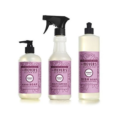 Mrs。Meyer 'sキッチンセット、Dish Soap, Hand Soap, and Multi - Surface Cleaner、ライラック、3 CT