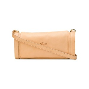 Il Bisonte embossed logo cross-body bag - ニュートラル