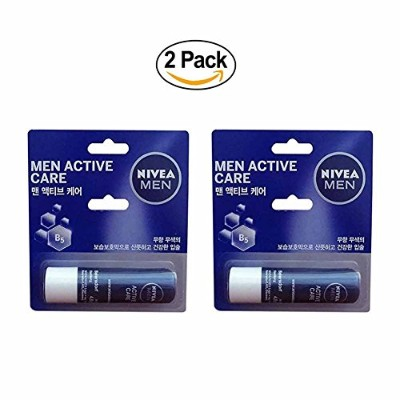 NIVEA for Men Active Care Moisture Lip Care 0.17oz(4.8g) Stick 2pack NIVEA for Menアクティブケアモイスチャーリップケア...