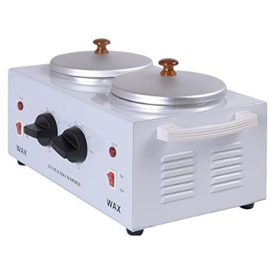 Super buy Electric Double Pot Wax Warmer Heater Professional Dual Pro Salon Hot Paraffin by Super...