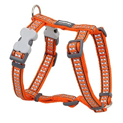 Red Dingo DH-RB-OR-LG Dog Harness Reflective Orange, Large