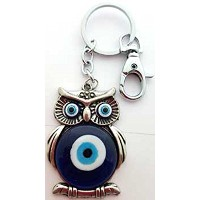 Wise All Seeing Owlの保護とWatching Evil Eye Banisherキーチェーン