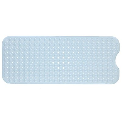 Extra Long Vinyl Bath Mat - Grey by SlipX Solutions