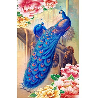 (Peacock) - Jchen(TM) Home Decor 5D Diamond Rhinestone Pasted Embroidery Painting Cross Stitch Kit ...