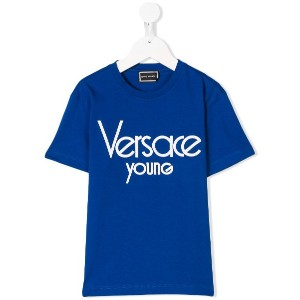 Young Versace ロゴ Tシャツ - ブルー